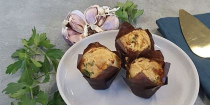 Balsamic roast pumpkin, feta & rosemary muffin