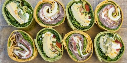 NEW Gourmet tortilla wraps (cut into 4)